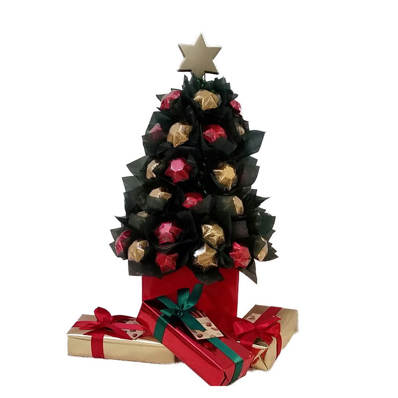 Red And Gold Christmas Trees: Dark Green Christmas Tree