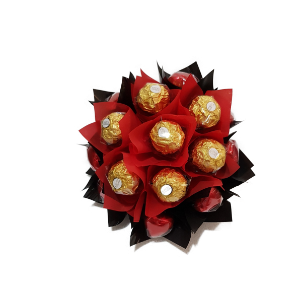 Choccy box bouquets chocolate hampers delivered australia wide black red bouquet negle Choice Image