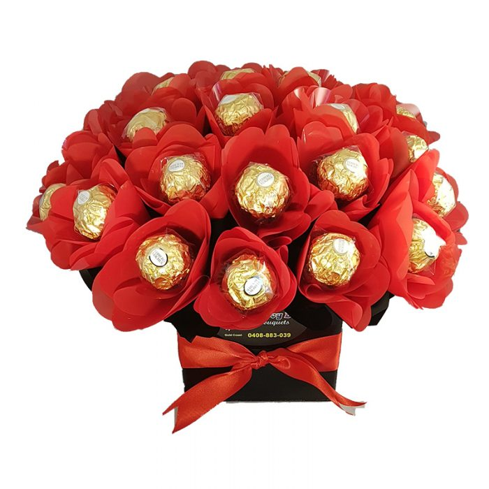 Choccy box bouquets chocolate hampers delivered australia wide roses are red negle Choice Image