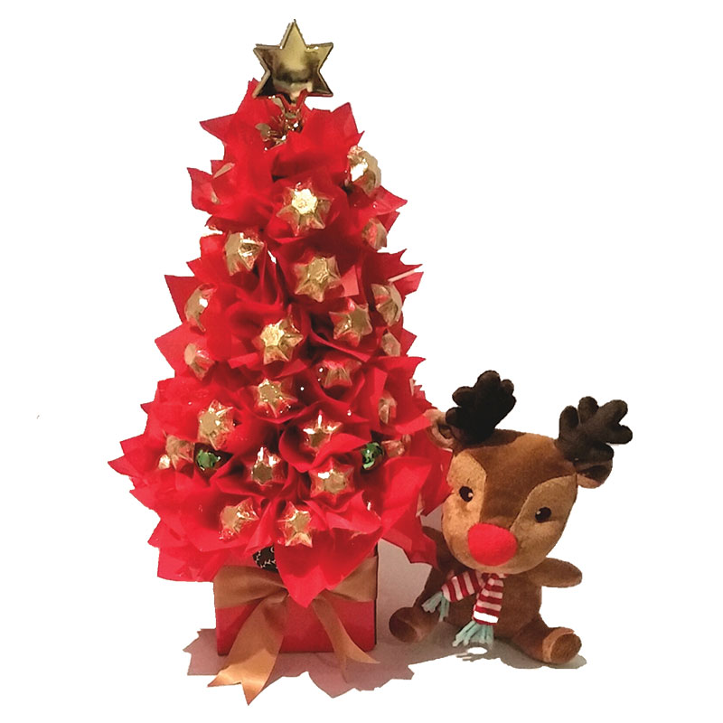 Red & Gold Christmas Tree – Choccy Box Bouquets